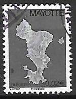 MAYOTTE    -   2004 .  Y&T N° 151 A Oblitéré.  Carte De L' île.  Légende Phil@post - Usados