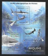 Monaco;n°2931 ** Musée Océanographique De Monaco ,Requins - Blokken