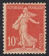 FRANCE Francia Frankreich - 1906 - Yvert 134 Nuovo Senza Gomma, Semeuse, 10 Cent, Rosso. - Francia