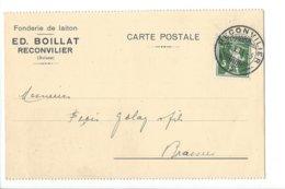 24031 - Fonderie De Laiton Ed.Boillat Reconvilier Pour Le Brassus 1913 - BE Berne