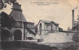58 - LA MACHINE : USINE SCHNEIDER - Puits Des Zagots - CPA Village ( 3.385 Habitants ) - Nièvre ( Nivernais - Morvan ) - La Machine