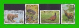 """BUZIN - Luxembourg - Y&T 1542/1545 - Série """"Bienfaisance 2002"""" - 1985-.. Vögel (Buzin)"""