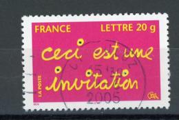 "FRANCE - CECI EST UNE INVITATION - N° Yvert 3760 Obli. RONDE DE ""CULOZ 2005"" - France"