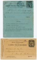 LOT DE 2 X PNEUMATIQUES - Marcophilie (Lettres)