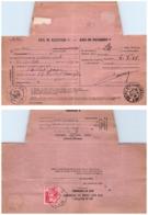 LOIRE. RECETTE-DISTRIBUTION DE ST MARCEL DE FELINES. SUR AVIS DE RECEPTION D'UNE LETTRE RECOMMANDE DE ST ETIENNE - 1921-1960: Moderne