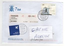 """Beau Timbre , Stamp  """" Moulin """" Sur Lettre , Enveloppe , Cover ,  Mail Du 04/04/2013 Pour La France - 1910-... República"""