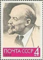 USSR Russia 1964 94th Birth Anniversary Vladimir Lenin Famous People Celebrations Politician ART Portrait Stamp MNH - Art