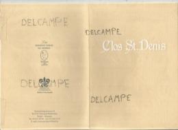 Clos St. Denis, Vliermaal. 2001 - Menus