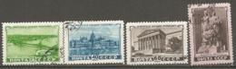 RUSSIE -  Yv N°   1541 à 1544  (o)  République Populaire De Hongrie   Cote  9   Euro  BE - 1923-1991 USSR