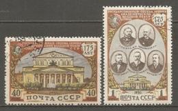 RUSSIE -  Yv N°   1549,1550  (o)  Théâtre De Moscou   Cote  2,5   Euro  BE - 1923-1991 USSR