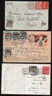 SUISSE ( Timbres Taxe) RARE Lot De 3 Cartes Taxées En Suisse (timbres Taxe) Obl. Entre 1914/1922 - Taxe