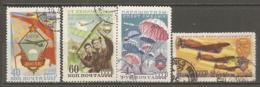RUSSIE -  Yv N°   1576 à 1579  (o)  Sports   Cote  3 Euro  BE - 1923-1991 USSR