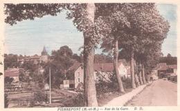 Pierrepont (54 - Meurthe Et Moselle) Rue De La Gare - Autres Communes