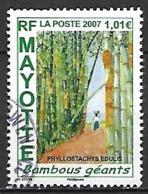 MAYOTTE    -   2007 .  Y&T N° 197 Oblitéré.   Bambous Géants - Usados