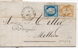 PETITE LETTRE DE ST SERNIN Sur RANCE   POUR MILLAU - 1871-1875 Ceres