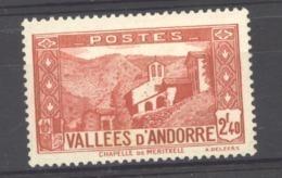 Andorre  :  Yv  85  ** - Neufs