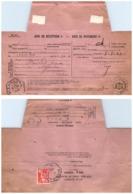 LOIRE. AGENCE DE GRAMONT. SUR AVIS DE RECEPTION D'UNE LETTRE RECOMMANDE DE ST ETIENNE / 2 - 1921-1960: Moderne