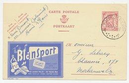 Publibel - Postal Stationery Belgium 1948 Condensed Milk - Polish - Leather - Suede - Ball - Costumi
