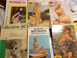 NATURISME /GUIDE DES VACANCES NATURISTES /SEXOLOGIE /6 REVUES - Erotique (...-1960)