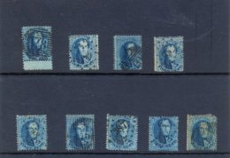 Nr. 9x 15A 121/2 X13/1/2  Gestempeld (used) - 1858-1862 Medaillen (9/12)