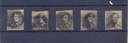 5 X Nr. 1 Gestempeld (used) - 1849 Epaulettes