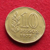 Argentina 10 Pesos 1977 KM# 72  Argentine Argentinie - Argentine