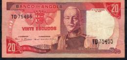 ANGOLA P99 2O ESCUDOS  24.11.1972 #TD   VF NO P.h. - Angola