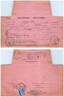 LOIRE. AGENCE DE ST ROMAIN EN JAREZ. SUR AVIS DE RECEPTION D'UNE LETTRE RECOMMANDE DE ST ETIENNE / 2 - 1921-1960: Moderne