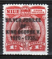 Niue 1935 Single 1d Penny Stamp Taken From The Silver Jubilee Series. - Niue