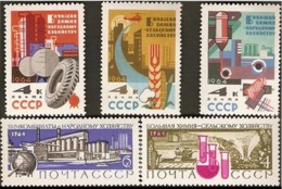 USSR Russia 1964 Importance Of Chemical Industries To Soviet Economy Sciences Industry Chemistry Stamps MNH - Chemistry