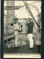 CPA - Marine - Officier à La Mèche - Guerre