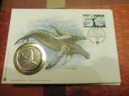 Philatelic Cover Numismatic Tonga -   Baleine 1996 - W.W.F.