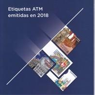 CARPETA CON 32 ETIQUETAS ATM EMITIDAS POR CORREOS EN EL AÑO 2018 (NUEVAS) VALOR FACIAL 33,60€ - 1931-Oggi: 2. Rep. - ... Juan Carlos I