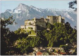 Postcard - Festspielstadt Salzburg, Austria - The Fortress Of Hohen-Salzburg With The Unterberg - Card No. FS 301/L - VG - Postkaarten