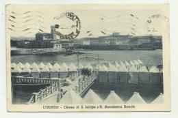 LIVORNO - CHIESA DI S.IACOPO E R.ACCADEMIA NAVALE 1927  VIAGGIATA  FP - Livorno