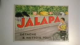 Carton Publicitaire /thème Savon Lessive Blanchisseuses Lavandieres / JALAPA 15.5X23cm - Posters