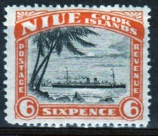 Niue 1944 Single 6d Stamp From The Definitive Issue. - Niue