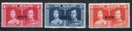 Niue 1937 Set Of Stamps To Celebrate The Coronation. - Niue