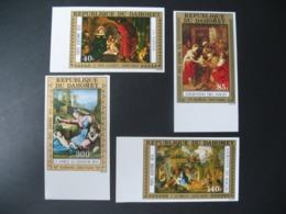 Timbre ND non Dentelé Neuf ** MNH - Imperf    Religions  Noël Tableaux  Dahomey   N° Pa 244 à 247 - Paintings