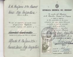 PASAPORTE DE URUGUAY - 1969. MUJER DE DPTO TREINTA TRES, URUGUAY. PASSPORT WOMAN. PASSEPORT FEMME -LILHU - Documentos Históricos