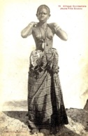79 -;Afrique Occidentale -jeune Fille Coucou  -ed. Gâutron - Süd-, Ost-, Westafrika