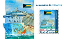 CENTRAL AFRICA 2019 - Cruise Ships. S/S Official Issue [CA190813b] - Barche