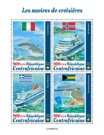 CENTRAL AFRICA 2019 - Cruise Ships. Official Issue [CA190813a] - Barche