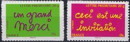 "FR Adhésif YT 204 & 205 (3760 & 3761) "" Timbres De Message ""  2005 Neuf** - Francia"