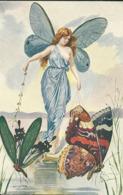 Femme Papillon  - Les Maitres De La Carte Postale - Other Illustrators
