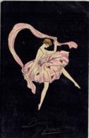 Bonne Année - Splendida Cartolina Dipinta A Mano (?) 1933 - Rif. 264 Ill. - 1900-1949