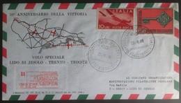 Storia Postale Italia 1968 - Busta Con Annullo Volo Trento Trieste - Unclassified