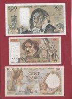 "France 6 Billets Dans L 'état (500 Francs ""Pascal"" Du 03/01/1985.K----F/TTB+. ---) Lot N °7 - Sin Clasificación"