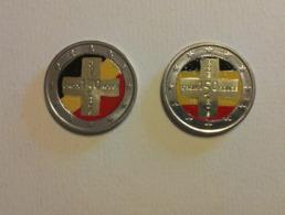 Belgio 2014 2€  Anniversario Della Croce Rossa SMALTATO-COLORATO Con I Colori Della Bandiera - Belgio