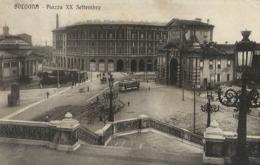 BOLOGNA PIAZZA XX SETTEMBRE 1916 ANIMATA TRAMWAY - Bologna